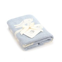 Bashful Blue Bunny Blanket from Jellycat :: Baby Bottega