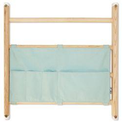 Borsa organizzativa per spalliera / barre a muro in menta da Kaos :: Baby Bottega