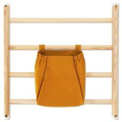Borsa per spalliera in marrone dorato di Kaos :: Baby Bottega
