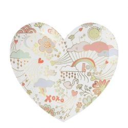 Valentine Doodle Large Plates from Meri Meri :: Baby Bottega
