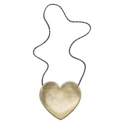 Gold Heart Bag from Mimi & Lula - Baby Bottega
