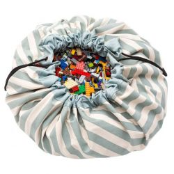 Green Stripes toy storage bag from Play and Go :: Baby Bottega