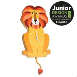 Charlie the Lion Wooden Wall Clock :: Baby Bottega