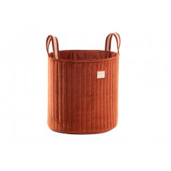 Savanna Velvet Toy Bag, wild brown from Nobodinoz :: Baby Bottega