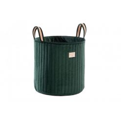 Savanna Velvet Toy Bag, jungle green from Nobodinoz :: Baby Bottega