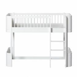 Wood mini + low loft bed from Oliver Furniture :: Baby Bottega