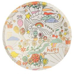 Happy Doodle Dinner Plates from Meri Meri :: Baby Bottega