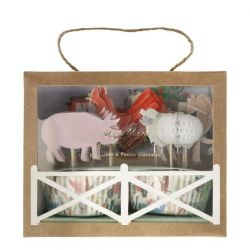 On the Farm Cupcake Kit from Meri Meri :: Baby Bottega Party Supplies