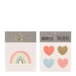 Tatuaggi Piccoli Rainbow & Hearts di Meri Meri :: Baby Bottega