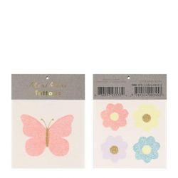 Floral Butterfly Small Tattoos from Meri Meri :: Baby Bottega