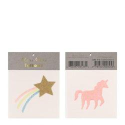 Tatuaggi Piccoli Star & Unicorn di Meri Meri :: Baby Bottega