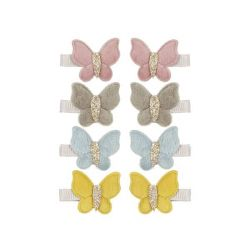 Velvet Butterfly Clips from Mimi & Lulu :: Available at Baby Bottega