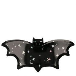 Sparkle Bat Plates from the Meri Meri Halloween Collection :: Available at Baby Bottega