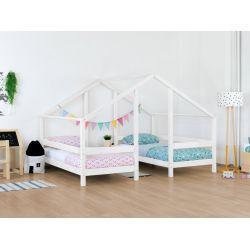 VILLY,  letto bianco o grigio per due in stile Montessori (dim 90 x 200 cm) da Benlemi