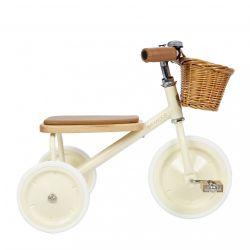 Triciclo per bambini, crema di Banwood disponibile presso Baby Bottega