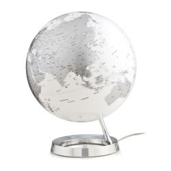 World Globe Chrome Table Lamp