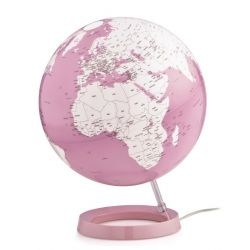 World Globe Coral Table Lamp