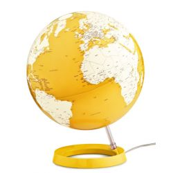 World Globe Yellow Table Lamp