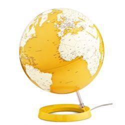 mappamondo globo giallo luce di notte tavolo atmosphere baby bottega