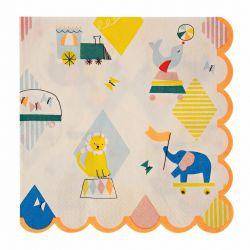 Silly Circus Large Napkins from Meri Meri :: At Baby Bottega