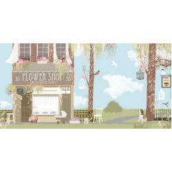 Flower Shop Mural Wallpaper