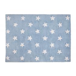 Blue White Stars Rug