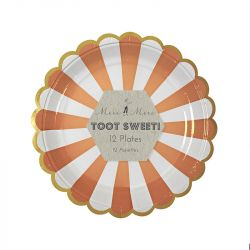 Toot Sweet Orange Stripe Party Plates from Meri Meri :: Baby Bottega