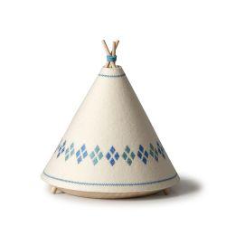 Blue Teepee Table Lamp