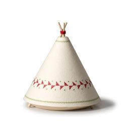 Red Teepee Table Lamp