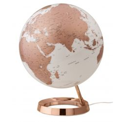 World Globe Copper Table Lamp