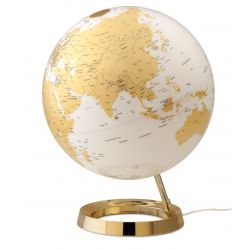World Globe Gold Table Lamp