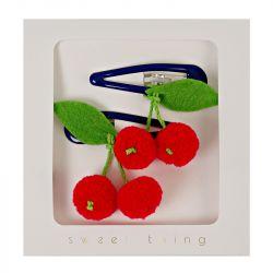 Cherries Hair Clips from Meri Meri :: Baby Bottega