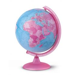 Pink World Map Lamp