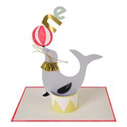 One Sea Lion First Birthday Card
