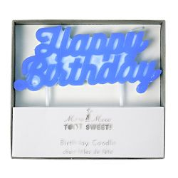 Candelina Happy Birthday Blu di Meri Meri :: acquista su Baby Bottega