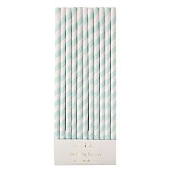 Mint Striped Straws from the Meri Meri Collection
