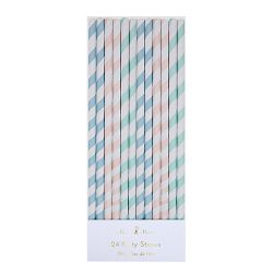 Pastel Striped Straws from Meri Meri