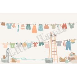 Murale Carta da Parati Hanging Clothes