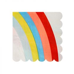 Rainbow Small Napkins from Meri Meri