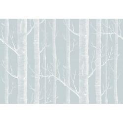 Woods Wallpaper Blue