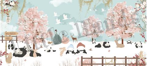 Murale Carta da Parati Inverno in Giappone