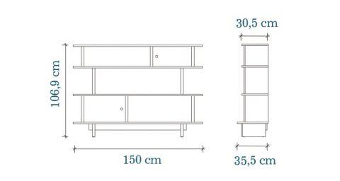 Mini Library Dimensions