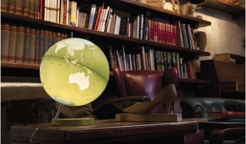 world map globe green nightlight table light atmosphere baby bottega ambiance