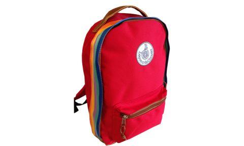 zaino retro rosso arcobaleno lecons de choses