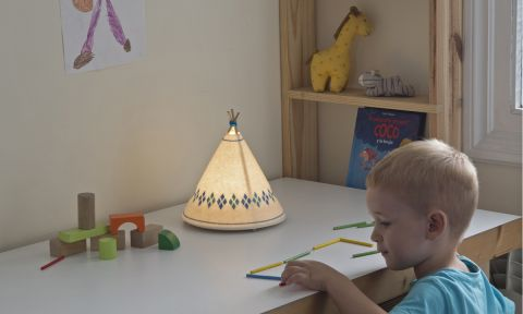 Blue Teepee Table Lamp