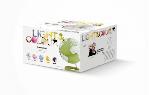 mappamondo globo giallo luce di notte tavolo atmosphere baby bottega package
