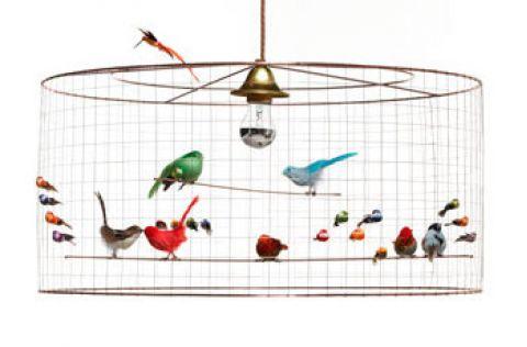 demi grand voliere birds chandelier baby bottega filorence detail