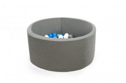 Ball Pit in gray with balls from Misioo : Indoor Playground : Baby Bottega