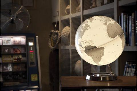 mappamondo globo cromo luce di notte tavolo atmosphere baby bottega ambiente