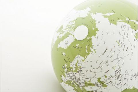 world map globe green nightlight table light atmosphere baby bottega detail